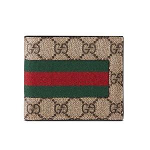 Authentic , Gucci, Web GG Supreme Canvas Wallet